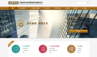 安融惠众征信系统网站设计