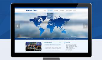 中环球船务官方网站设计